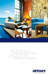 AIRTOURS - Design Hotels - Sommer 2009 - tui.com - Onlinekatalog