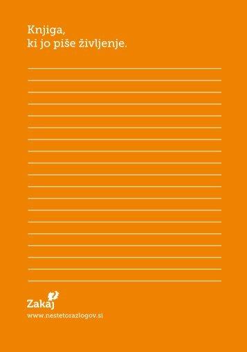 Knjiga, ki jo piše življenje. - Društvo onkoloških bolnikov Slovenije