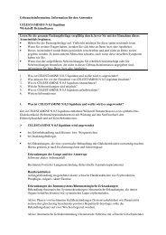 Information für den Anwender CELESTAMINE® N 0,5 liquidum - MSD