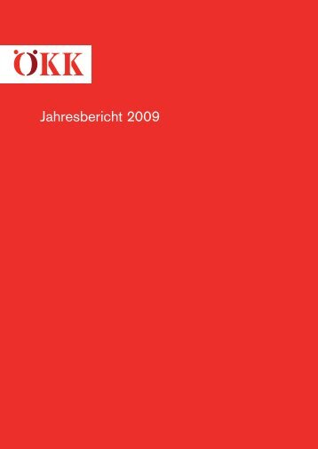Kurzübers Jahresbericht 2009 - Ökk