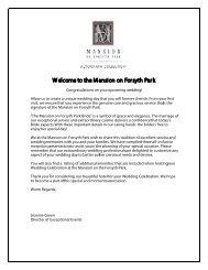 Mansion on Forsyth Park Wedding Packet