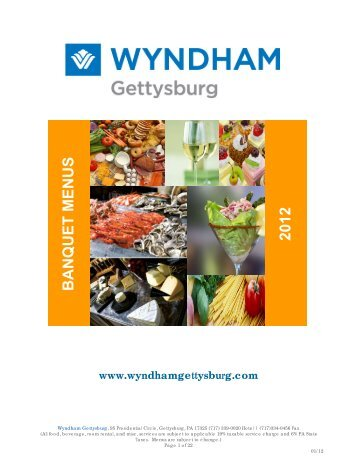 BANQUET MENUS 2012 - Wyndham Hotels and Resorts