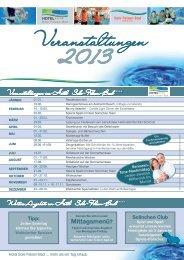 Veranstaltungen im Hotel Sole-Felsen-Bad ... - Internex GmbH