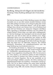 Rydberg, Almqvist och frågan om det moderna - Viktor Rydberg
