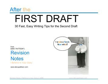 From first draft to second draft...?