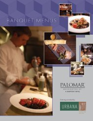 Catering Menus - Hotel Palomar Washington DC