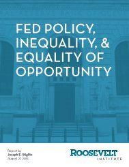 FED POLICY INEQUALITY & EQUALITY OF OPPORTUNITY