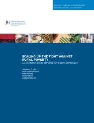 SCALING UP THE FIGHT AGAINST RURAL POVERTY