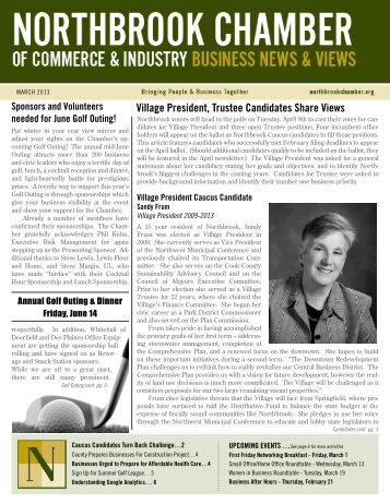 March - Northbrook Chamber of Commerce