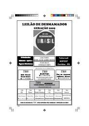 VIII Leilão Desmamados Brasil - Geração 2009 ... - Raia Leve