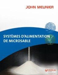SYSTÈMES D'ALIMENTATION DE MICROSABLE