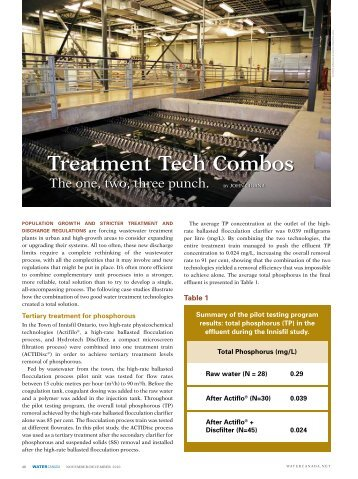 Treatment Tech Combos
