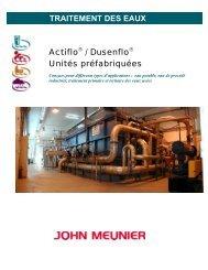 TRAITEMENT DES EAUX Actiflo / Dusenflo Unités préfabriquées