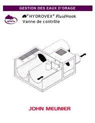 HYDROVEX FluidHook Vanne de contrôle