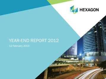 YEAR-END REPORT 2012
