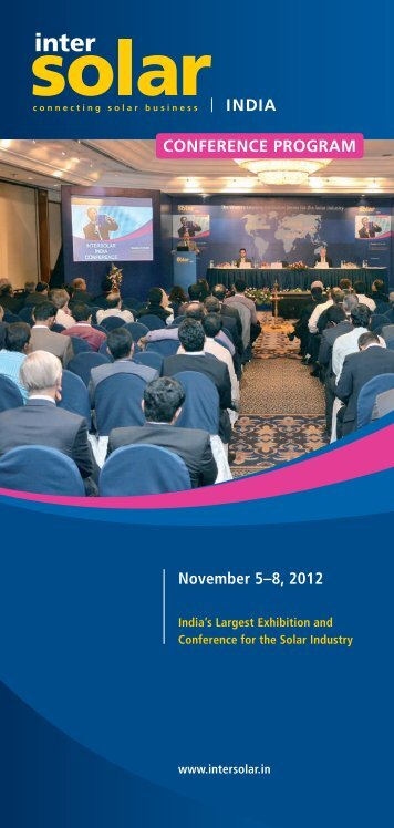 November 5–8, 2012 CONFERENCE PROGRAM - mpc networks