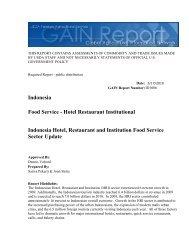 Indonesia Food Service - Hotel Restaurant Institutional Indonesia ...