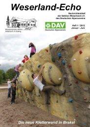 Weserland-Echo 1 - 2012 - 01 - Titelseite - Deutscher Alpenverein ...