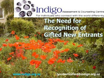 The Need for Recognition of Gifted New Entrants