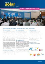 conference preview 2011 - Intersolar India