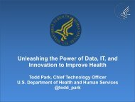 Unleashing the Power of Data IT and Innovation to Improve Health