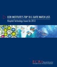 ECRI Institute's Top 10 C-Suite Watch List