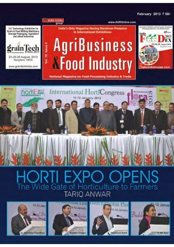 HORTICULTURE HAS IMMENSE POTENTIAL TO REVOLUTIONIZE AGRICULTURE