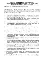 Plano de Estudo para Prova de mandioca - Departamento de ...