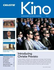 In the Fall 2011 Issue - Christie Digital Systems