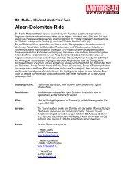 Alpen-Dolomiten-Ride - MOTORRAD online