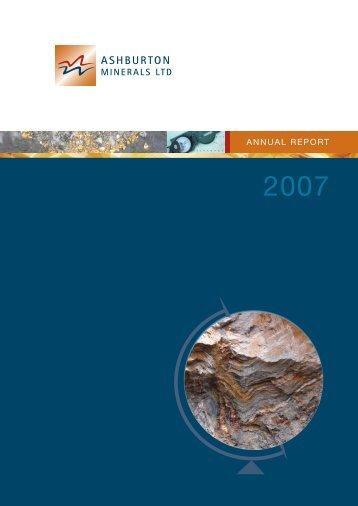 ANNUAL REPORT - Ashburton Minerals
