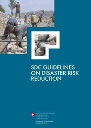 SDC Guidelines on Disaster Risk Reduction