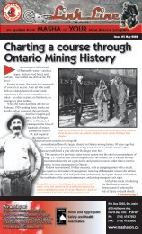 Charting a course through Ontario Mining History