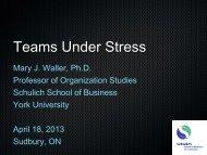 Teams Under Stress