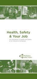 Health Safety & Your Job Health Safety & Your Job