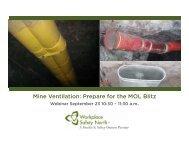 Mine Ventilation Prepare for the MOL Blitz a.m