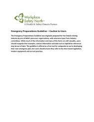 Emergency Preparedness Report - Workplace Safety North