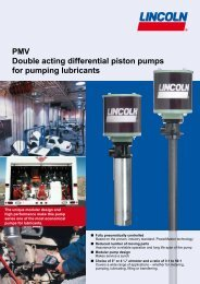 PMV Double acting differential piston pumps for pumping lubricants