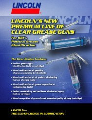 LINCOLN'S NEW PREMIUM LINE OF CLEAR GREASE GUNS