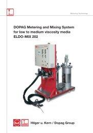 DOPAG Metering and Mixing System for low to medium viscosity media ELDO-MIX 202