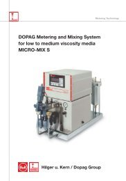 DOPAG Metering and Mixing System for low to medium viscosity media MICRO-MIX S