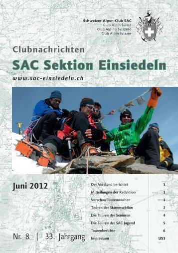 Juni 2012 - SAC Einsiedeln