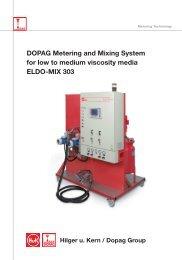 DOPAG Metering and Mixing System for low to medium viscosity media ELDO-MIX 303