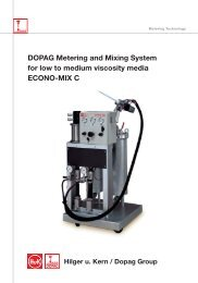 DOPAG Metering and Mixing System for low to medium viscosity media ECONO-MIX C