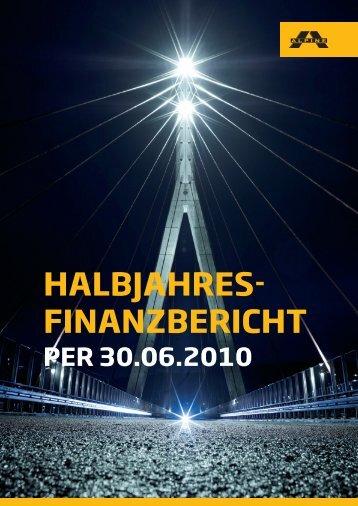 halbjahres- finanzbericht