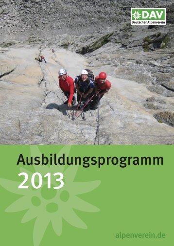 Ausbildungsprogramm 2013.pdf - Deutscher Alpenverein
