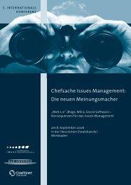 Chefsache Issues Management: Die neuen ... - IMAGE eV