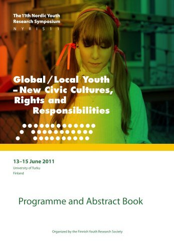 Programme and Abstract Book - NYRIS 11