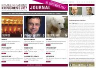 JOURNAL - Kommunikationskongress