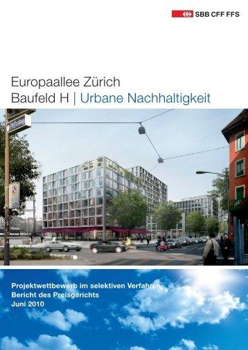 2010 - Jurybericht SBB Baufeld H, 77 S., 13.7 - Europaallee